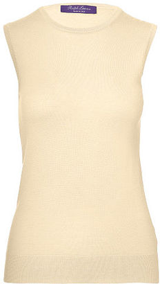 Ralph Lauren Cashmere Sleeveless Sweater $690 thestylecure.com
