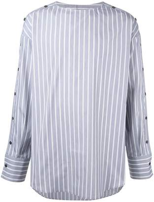 Wooyoungmi striped collarless shirt