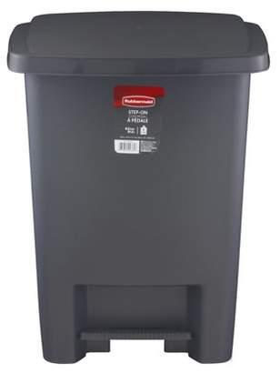 Rubbermaid Step-On Trash Can, 8.3 Gal, Metallic