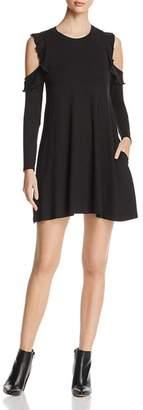 Elan International Cold-Shoulder Ruffle Dress