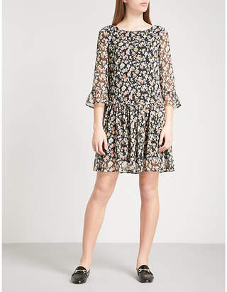 Claudie Pierlot Rafia chiffon mini dress