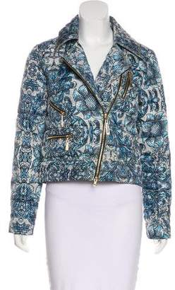 Just Cavalli Printed Moto Jacket