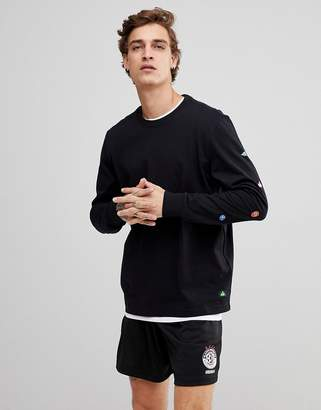 Element Long Sleeve T-Shirt With Small Fruit Sleeve Print