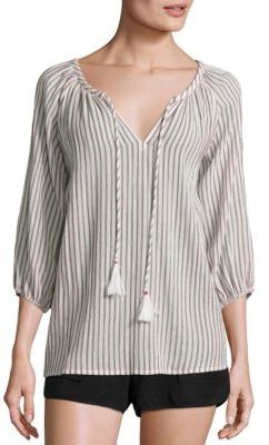 Joie Soft Joie Legaspi Striped Blouse $158 thestylecure.com