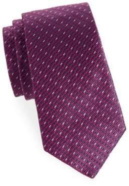Saks Fifth Avenue Neat Dash Silk Tie