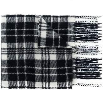 Ami Alexandre Mattiussi check pattern scarf