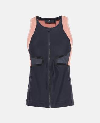 adidas by Stella McCartney Stella McCartney gray zippered running tank