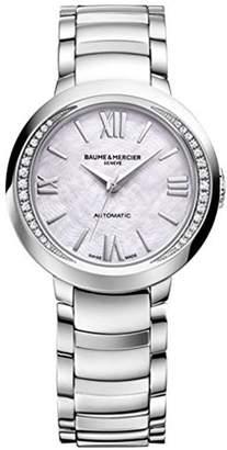 Baume & Mercier Women's Promesse Diamond 30mm Steel Case Automatic Watch 10184