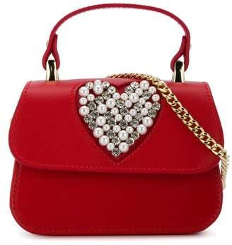 MonnaLisa embellished heart shoulder bag