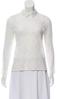 The Kooples Studded Lace Top