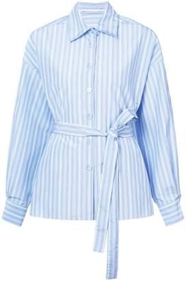 Rosetta Getty cape back tied striped shirt