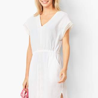 57204139ac489 Talbots Crochet-Trim Crinkle-Cotton Cover-Up