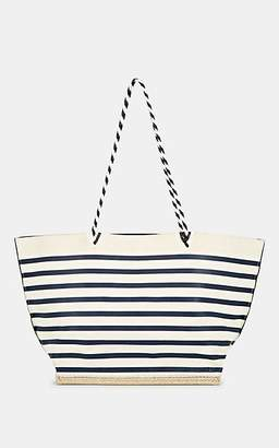 Altuzarra Women's Espadrille Large Striped Leather Tote Bag - Blue, White