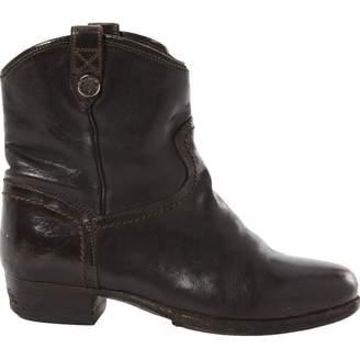 Alberto Fasciani Brown Leather Boots