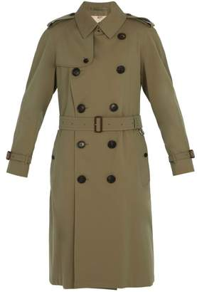 Burberry Double Breasted Trench Coat - Mens - Green