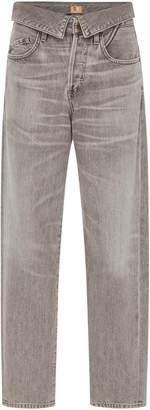 Atelier Jean Flip Foldover High-Rise Boyfriend Jeans