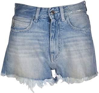 Marcelo Burlon County of Milan Flower Denim Shorts