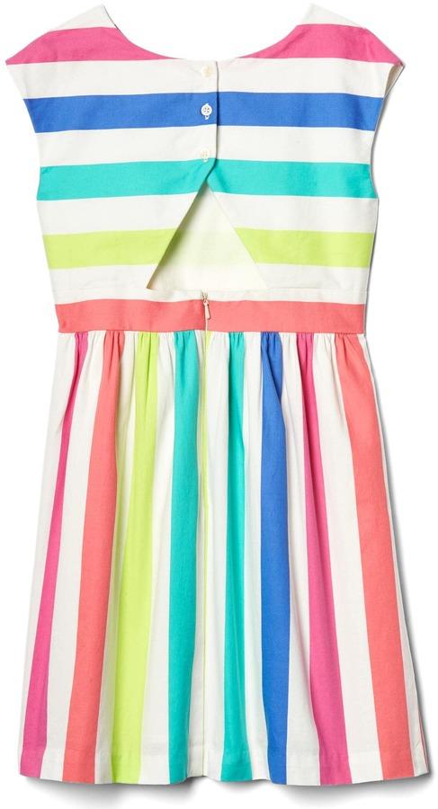 Bold stripe cap dress 7