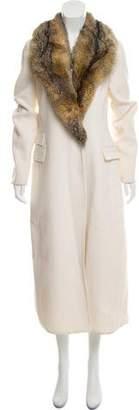 Ermanno Scervino Fur-Trimmed Long Coat