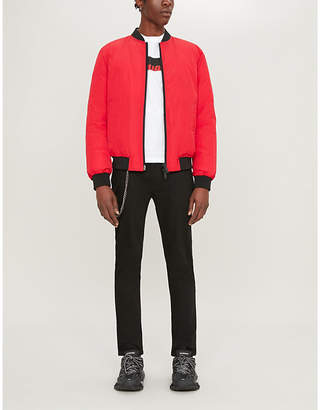 DSQUARED2 Logo-print padded shell-down bomber jacket