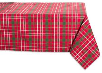 "Design Imports Classic Rectangle Tartan Holly Plaid Kitchen Tablecloth, 120"" x 60"", 100% Cotton, Multiple Sizes"