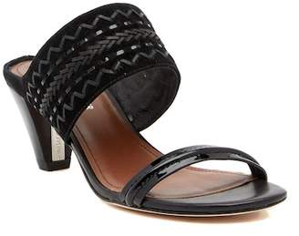 Donald J Pliner Viv Suede & Patent Leather Sandal - Narrow Width Available