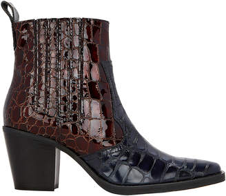 Ganni Western Two-Tone Boots