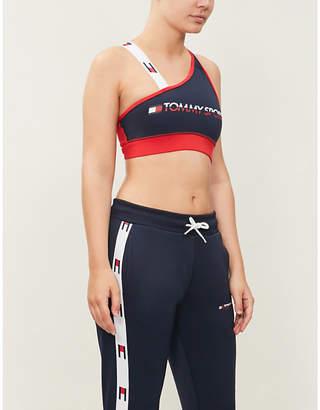 Tommy Hilfiger Contrast-strap stretch-jersey sports bra