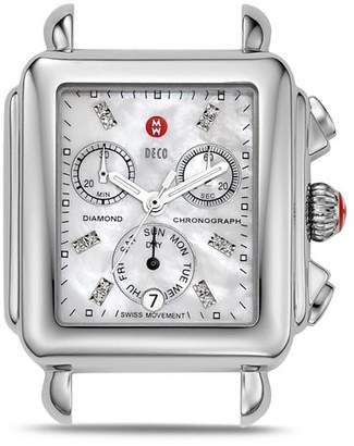 Michele Deco Day Diamond Watch Head, 33 x 46mm
