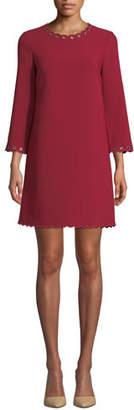 Kate Spade Scalloped Grommet Shift Dress