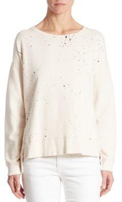Joe's Mackenzie Paint Splatter Cotton Pullover $148 thestylecure.com