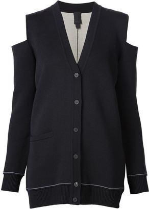 Vera Wang cold shoulder cardigan $1,095 thestylecure.com