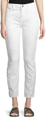 Jen7 by 7 for All Mankind Jacquard Skinny-Leg Pants