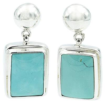 Exex Design Jewelry Sterling Silver Paradise Valley Turquoise Earrings