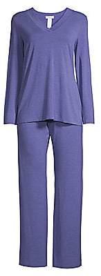 Hanro Women's Champagne Long-Sleeve Pajama Set