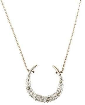 Alexis Bittar Crystal Encrusted Horseshoe Pendant Necklace
