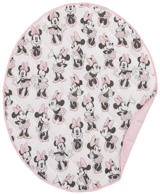 Disney Minnie Mouse Round Quilted Blanket Bedding