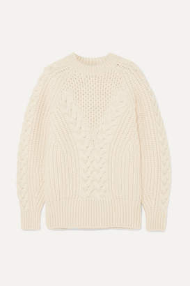 Alexander McQueen Cable-knit Wool Sweater - Ivory