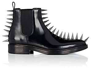 Balenciaga Men's Spike-Embellished Leather Chelsea Boots-Black