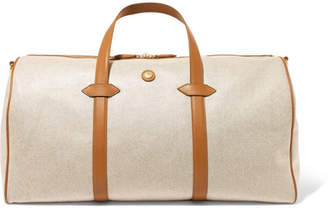 Paravel Main Line Duffel Leather-trimmed Canvas Weekend Bag - Tan