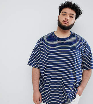 Jacamo Waffle T-Shirt In Stripe