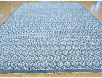 Isabelline One-of-a-Kind Bridget Turkish Knot Paisley Design Hand-Knotted Gray Wool Area Rug Isabelline