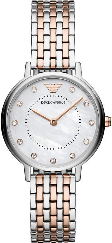 AR11094 Kappa mother-of-pearl stainless steel and rose gold-plated quartz watch