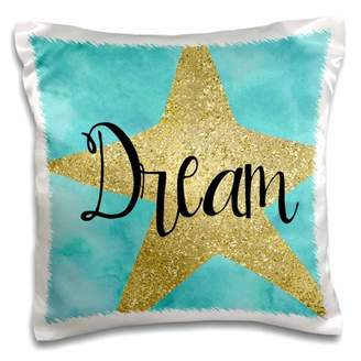 Aqua Star 3dRose Gold Sparkle Glam Dream - Pillow Case, 16 by 16-inch