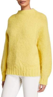 Equipment Souxanne Mock-Neck Wool Sweater