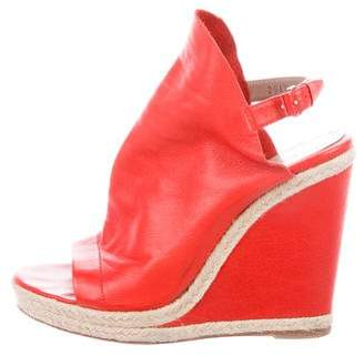 Balenciaga Leather Ankle Strap Wedges