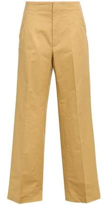 Gentryportofino Slub Cotton-blend Wide-leg Pants