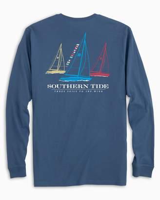 Southern Tide Three Sails Long Sleeve T-shirt
