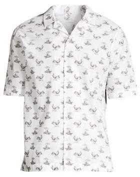 Sunspel Short-Sleeve Casual Button-Down Shirt