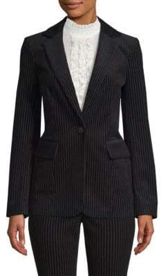 Frame Velvet Striped Blazer